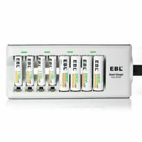 EBL Batteries with Charger, 808 AA AAA Battery Charger with 2800mAh AA
