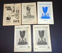 5 x NSW AFL Australian National Football League Record 1959 & 1960s Programs #A