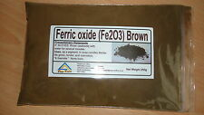 """Iron Oxide """" fe203 """" Ferric oxide,  Brown in colour   250 GRAMS"""
