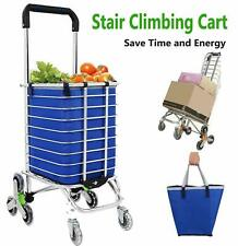 Stair Climbing Cart Grocery Carts Folding Shopping Cart w/Rolling Swivel Wheel
