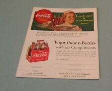 Vintage Coca-Cola Advertising Postcard Uncut Old Style Bottle Holder Graphics