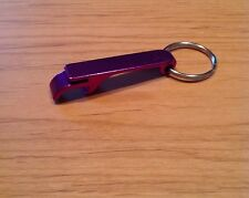 Qty 1- Key Chain Bottle and Can Opener - Color: PURPLE Aluminum