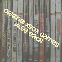 Original Microsoft XBOX Video Games. Games are $4.99 Each!