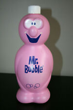 Vintage Mr Bubble Bath Bottles & Bank Vintage collectible old Soaky Bottle Rare