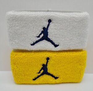 Nike Jordan JumpMan Bicep Bands White/Amarillo Gold/College Navy Adult Unisex