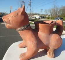 Mexican Pre-columbian Pottery Colima, Mexico folks ceramic standing Dog vessel