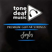 5x TOP E ELECTRIC GUITAR STRINGS 009 gauge single individual six seven string