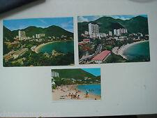 old China HK postcard,beautiful scenery of Repulse bay,3 pcs. in different shot
