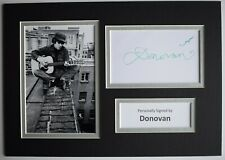 Donovan Signed Autograph A4 photo display Music Memorabilia AFTAL COA
