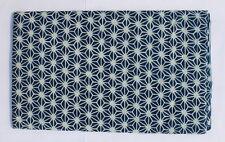 indian Hand Block Printed  100% Cotton Fabric indigo blue dudu print fabric