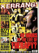 Kerrang! #567 October 14 1995 Therapy Iron Maiden Ozzy Osbourne Green Day AC/DC