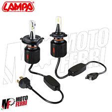 MF1347 - KIT 2 LAMPADINE FANALE LED BLADE H4 + H7 YAMAHA 500 TMAX 2001 - 2011