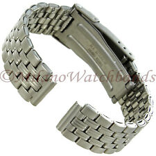 Hirsch Ladies Security Clasp ALL TITANIUM Carbide Finish Lightweight Watch Band