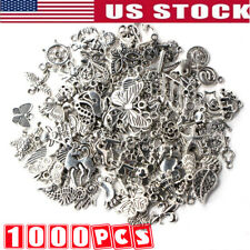 Wholesale 1000pcs Bulk Lots Tibetan Silver Mix Charm Pendants Jewelry Diy 10Bags
