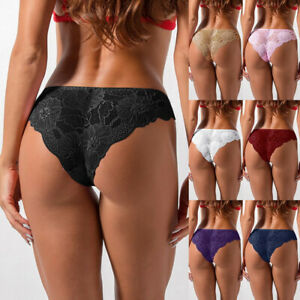 Women ladies Lace Sexy G-string Underwear Thong Briefs Panties Knickers@Lingerie
