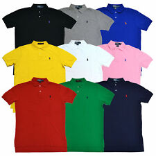 Polo Ralph Lauren Men's Classic Fit Mesh Polo Shirt Collared Top Pony Logo New