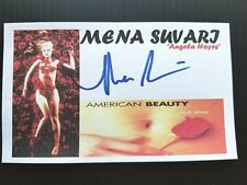 """American Beauty"" Mena Suvari ""Angela Hayes"" Autographed 3X5 Index Card"
