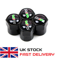 4 x VRS Badge Wheel Tyre Dust Caps for Skoda Octavia Fabia Rapid Car FREE UK P&P