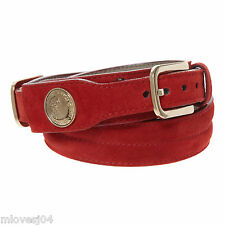 Versace Red suede Leather Medusa Gold Hardware Belt Brand New BNWT SZ 80