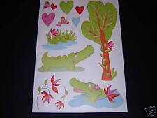 Stickers decoration chambre enfant bebe crocodiles