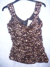 BNWT size 12 Principles gold and dark brown lace evening corset style top