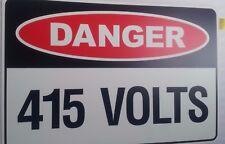 SAFETY SIGN - DANGER 415 VOLTS - ELECTRICAL  450x300mm POLYPROPYLENE (PM52)