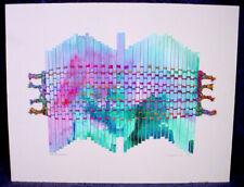 1992 Peggy DEMBICER Barbara SHAPIRO Art WEAVING Watercolor TAPESTRY Mixed Media