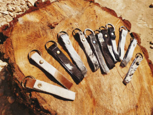 Genuine Cowhide Key Ring / Key chain / Bag Charm