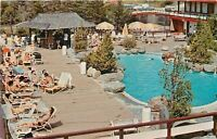 Mt Snow Vermont~Snow Lake Lodge~Heated Outdoor Pool~1960s Postcard