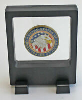 Small Display Case Stand Floating Challenge Coin Medal Holder, Black