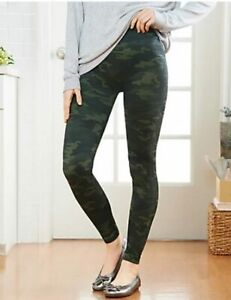 Spanx Olive Green Camo Look at me Now Seamless Leggings New Shapewear