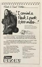 1979 Coleman Peak 1 Backpack Print Ad Carolyn Hoffman Trail Hiker