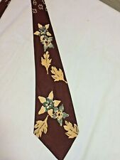 1940's Necktie Vintage wide Bold Abstract Flowers Swing Art Deco Norwood Tie