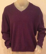 NWT Islander V-neck PURPLE Sweater Mens size XXL 2XL