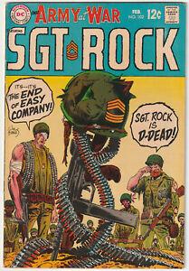 Our Army at War #202 Fine- 5.5 Nice DC War Comic Book Sgt. Rock Joe Kubert Easy
