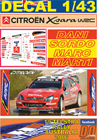 DECAL 1/43 CITROEN XSARA WRC DANI SORDO R.AUSTRALIA 2006 23rd (01)