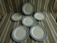 """6 assiettes plates salins bm,terre de fer,service """"sermaize""""(2)"""