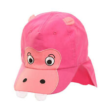 Baby Sun Hat Boy Girl Toddler Animal Legionnaire Roll up Neck Flap 9 M - 4 Years Pink 46cm 9-12 Months Approx