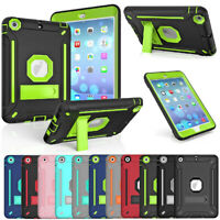 Hybrid Rubber Shockproof Case For Apple iPad mini 1 2 3 4 5th Gen Stand Cover