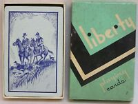 Vintage Art Deco Liberty Playing Cards with Man and Woman on Horses Unusual