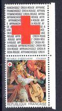 FRANCE TIMBRE CROIX ROUGE AVEC VIGNETTE 2392 ** MNH D RETABLE ISSENHEIM - 1985