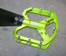Road MTB Mountain Bike Bicycle Pedal 3 Bearings Flat-Platform Pedals Green ENZO