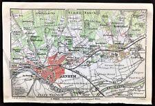 1910 ANTIQUE COLOR MAP - ARNHEM, NETHERLANDS - Great Detail Rare 100% ORIGINAL