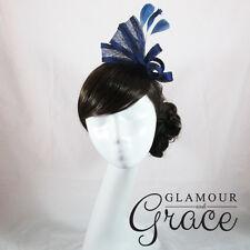 Fleur Navy Blue Fascinator Hatinator Headpiece Headband Races Melbourne Cup Hat