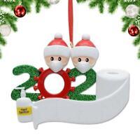 2020 Xmas Christmas Tree Hanging Face Mask Snowman Pendant Family Ornament