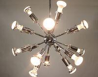 Vintage Sputnik Pendant Lamp Chrome 18light Chandelier Mid Century 60's 70's