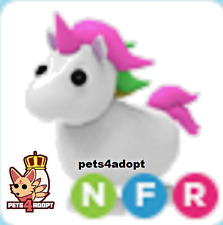 ROBLOX ADOPT ME NEON UNICORN NFR - FLY RIDE UNICORN - LEGENDARY PET NFR UNI -