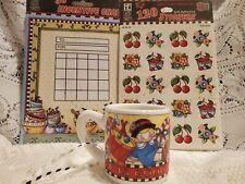 3 Pc Lot Mary Engelbreit Items Ornament Mug, Stickers, Incentive Chart