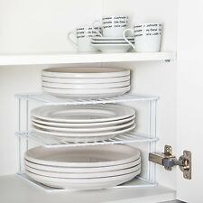 Wire Add A Shelf Corner Plate Rack. For Kitchen Cupboard Pots Pans Tins Plates