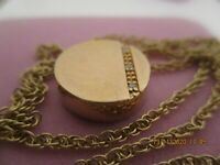 VINTAGE DIAMONDS AND 9 CT GOLD on Silver PENDANT  , ROUND , MODERN